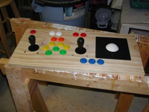 Player 1 controls test fit - top